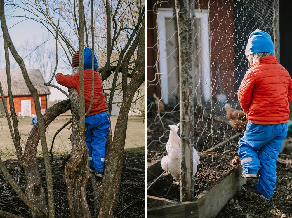 Förskolan Smultronet Glömminge Öland Utelek på våren