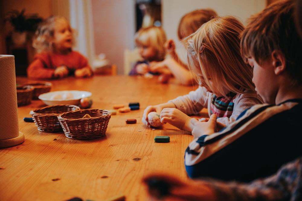 Förskolan Smultronet Glömminge Öland Påskpyssel